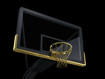 Black and golden basketball backboard Stock Photography