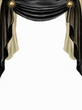 Black and golden curtain Stock Image