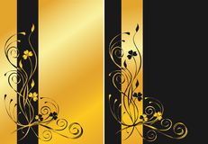 Black and golden floral backgrounds Royalty Free Stock Photo