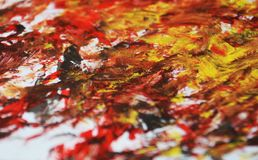 Golden black red soft blurred painting watercolor background, abstract painting watercolor background. Black golden gray yellow white blurred soft brush strokes stock photos