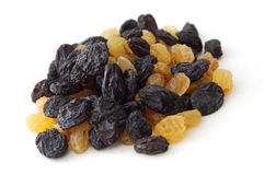 Black and Golden Raisins. Raisins and Golden Raisins or Sultanas Royalty Free Stock Photo