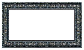 Black and golden rectangle vintage frame. On a white background, isolated royalty free stock photo