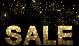 Black and golden sale background. Vector illustration Royalty Free Stock Photography