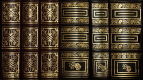 Black and Golden Stacked Book Stock Photos