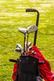 Black golf bag Royalty Free Stock Photo