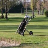 Black Golf Bag With Wheels Royalty Free Stock Photos