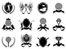 Black golf insignia. Some collection of black golf insignia for design Royalty Free Stock Photo