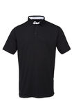 Black golf tee shirt with white collar for man royalty free stock images