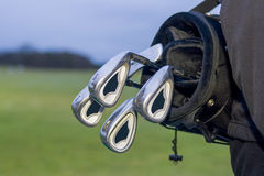 Golfbag with clubs in bag royalty free stock photos
