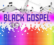 Black Gospel Shows Sound Track And Audio Stock Photography