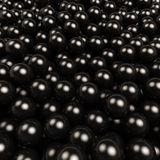 Black gossy balls background. Stock Photography