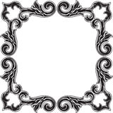 Black gothic art corner fine element set. On white Stock Images