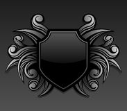 Black gothic shield emblem Stock Photos