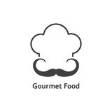 Black gourmet food logo Stock Photography