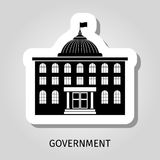 Black government building web sticker Royalty Free Stock Image