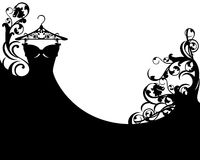 Black gown Royalty Free Stock Photography