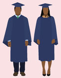 Black Graduates stock illustration