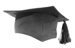 Black graduation cap Royalty Free Stock Photography