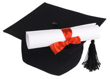 Black graduation cap Stock Photos
