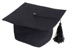 Black graduation cap Stock Images