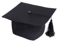 Black graduation cap Stock Images