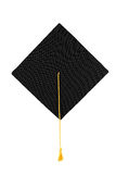 Black graduation cap isolated Royalty Free Stock Photos