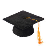 Black Graduation Cap isolated Royalty Free Stock Image