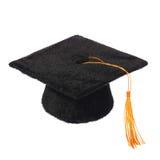 Black Graduation Cap isolated Royalty Free Stock Image