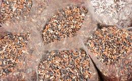 Black grain in bag Stock Images