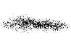 Black grainy texture isolated on white background. Stock Image