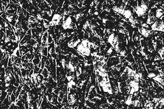 Black grainy texture isolated on white. Royalty Free Stock Image