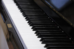 Black grand piano Royalty Free Stock Images