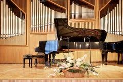 Black grand piano Stock Photos