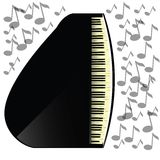 Black grand piano icon Royalty Free Stock Image