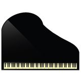 Black grand piano icon Stock Photos