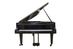 Black Grand piano. Isolated on white background Stock Photo