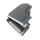Black grand piano top view Stock Image
