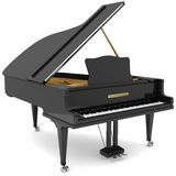 Black grand piano Stock Photography
