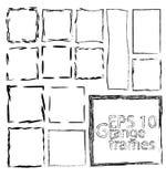 Black grange FRAMES on white baground stock illustration