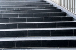 Black granite staircase Royalty Free Stock Image