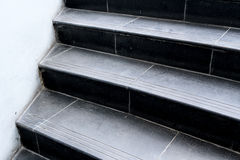 Black granite staircase Royalty Free Stock Photography