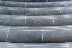 Black granite staircase Stock Photo