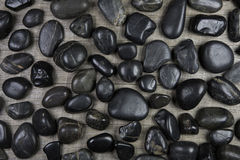Black granite stones background for concepts. Royalty Free Stock Photos