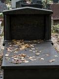 Black granite tombstone Stock Photos