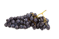 Black grapes close up. Royalty Free Stock Images