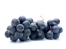 Black grapes. Isolated on white background Stock Photography