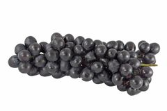 Black Grapes on White. Background Stock Photo