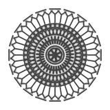 Black graphic ornament. 3d render black ornament on white background Royalty Free Stock Images