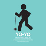 Black Graphic Symbol Yoyo Player Royalty Free Stock Images