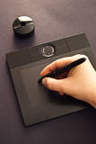 Black graphic tablet Stock Image
